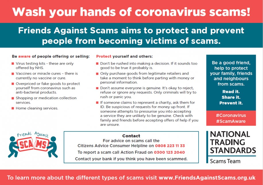 Coronavirus Scams: Read it, Share it, Prevent it post image