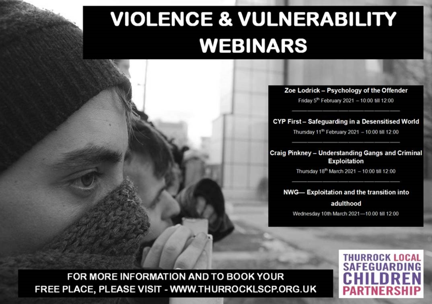 Image of Violence and Vulnerability webinars